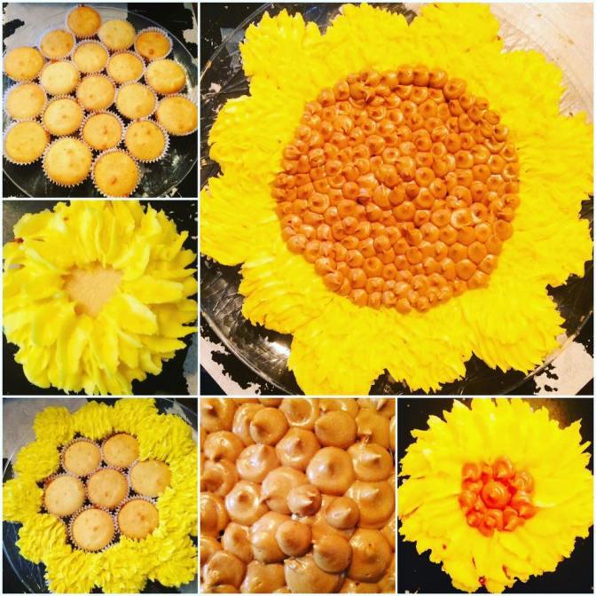 Sunflower Pull-Apart Cake