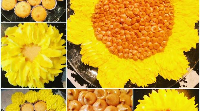Sunflower Pull-Apart Cake