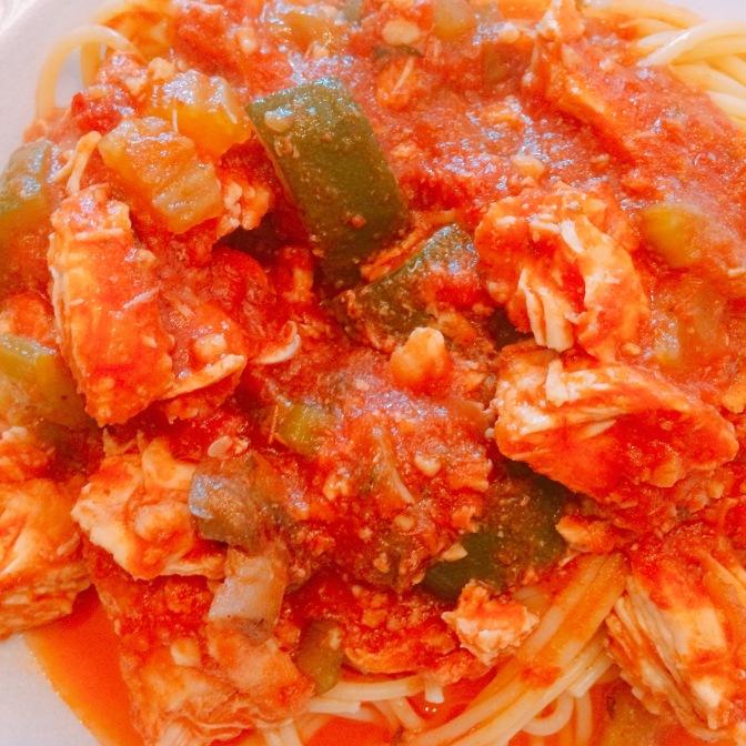 Crockpot Chicken Marinara w/Veggies