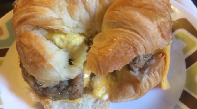 Cheesy Breakfast Croissants