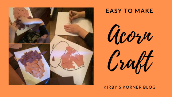 Easy to Make Fall Acorn Craft