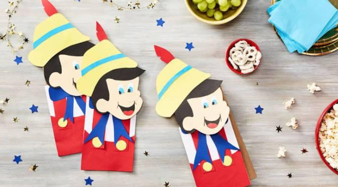 Freebie Alert: Pinocchio Lunch Bag Puppet