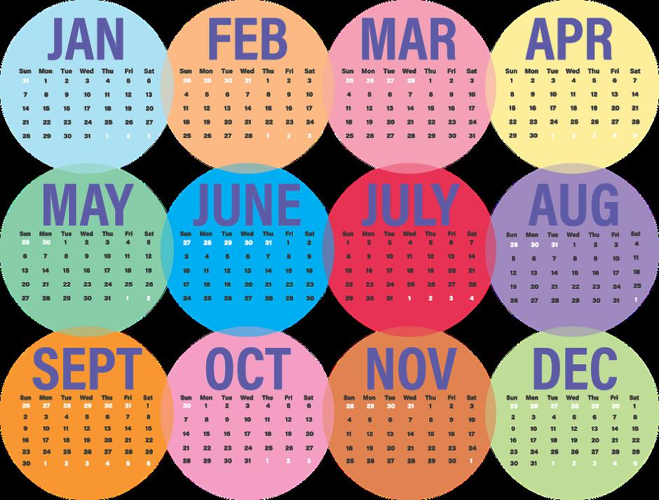 January 2018 Holidays
