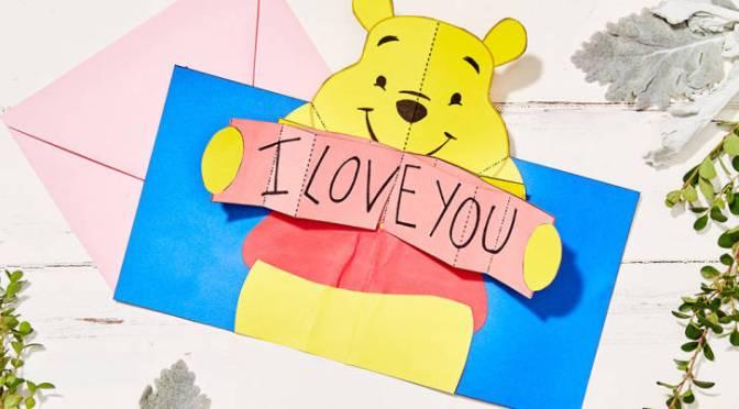 Freebie Alert: Winnie the Pooh Pop-Up Valentine's Day Card