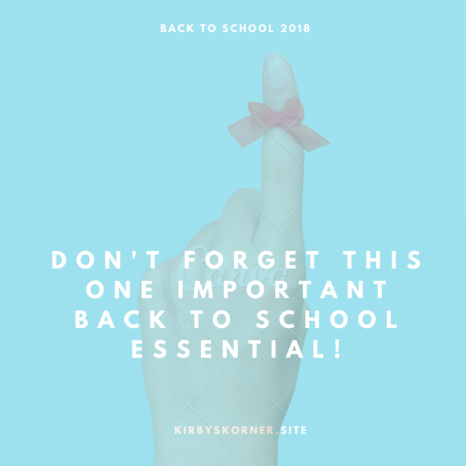 Don't Forget This Back to School Essential!
