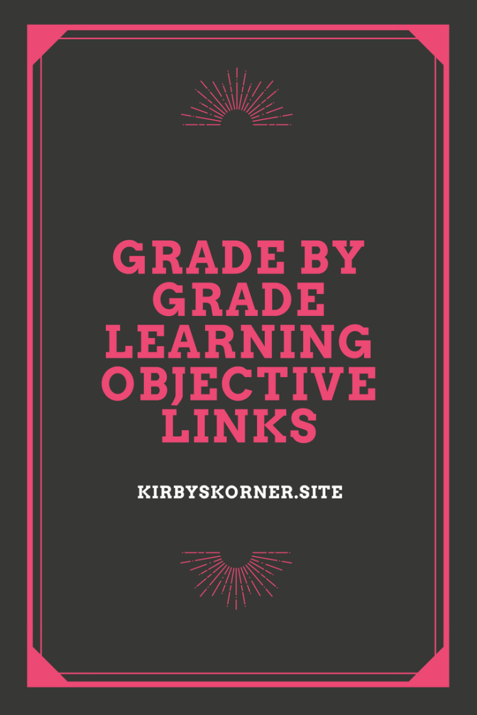 Grade By Grade Learning Objective Links