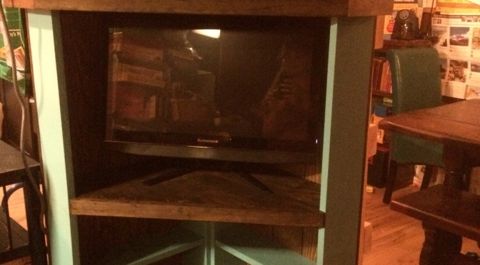 DIY Corner Entertainment Center