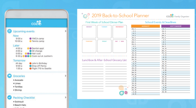 Cozi Family Organizer + 2019 Back to School Planner!