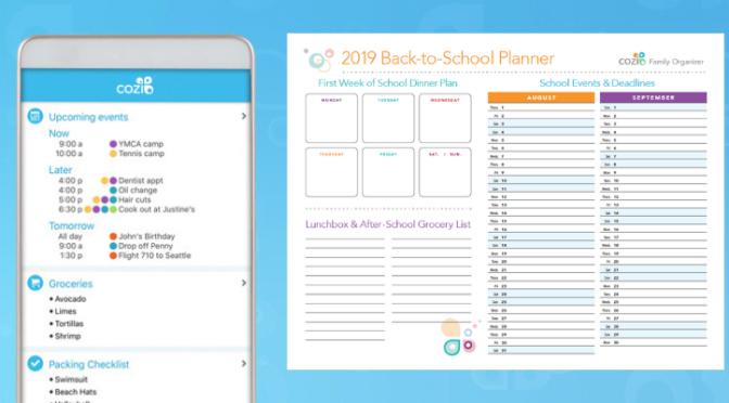 Cozi Family Organizer + 2019 Back to School Planner!