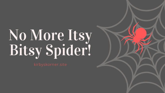 Do you hate spiders? Ok, well the itsy bitsy spider nursery rhyme is kinda cute but I don't want any spiders anywhere inside of my house and neither do the kids. This video made me think of how my kids act when they see a spider: